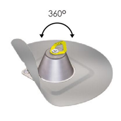 Punkt kotwiczenia na dach warstwowy z kołnierzem membrana